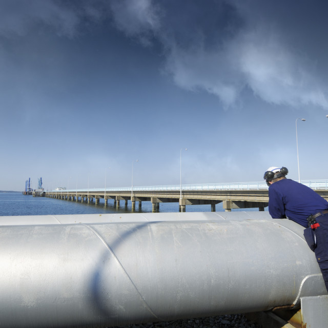 """Refinery fuel pipelines"" stock image"