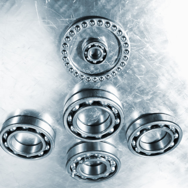"""Titanium ball bearings"" stock image"