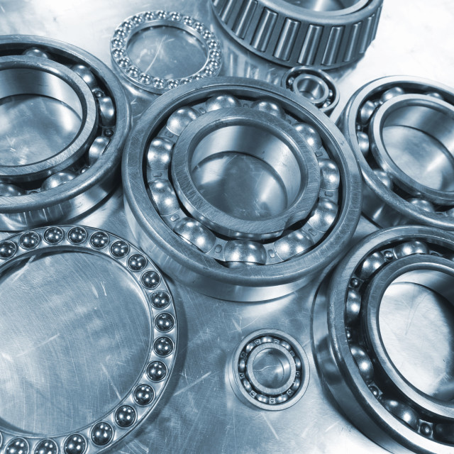 """Ball bearings with pinions"" stock image"