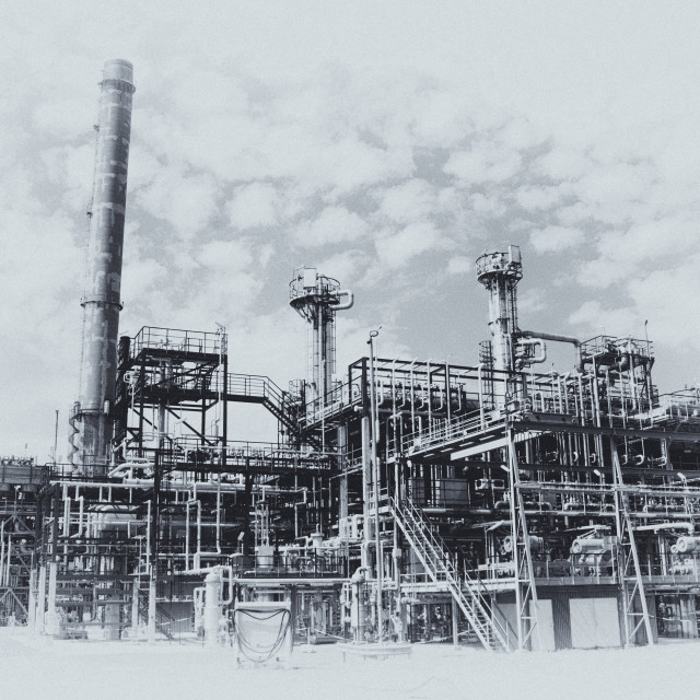 """Oil and gas refinery"" stock image"