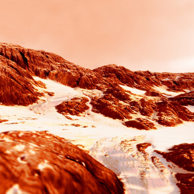 """Morning on Mars, illustration"" stock image"