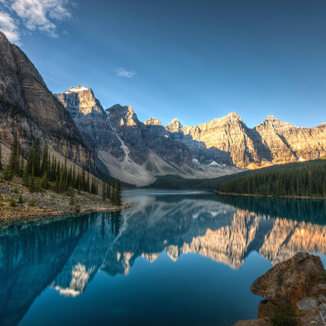 """Moraine Lake Reflections"" stock image"