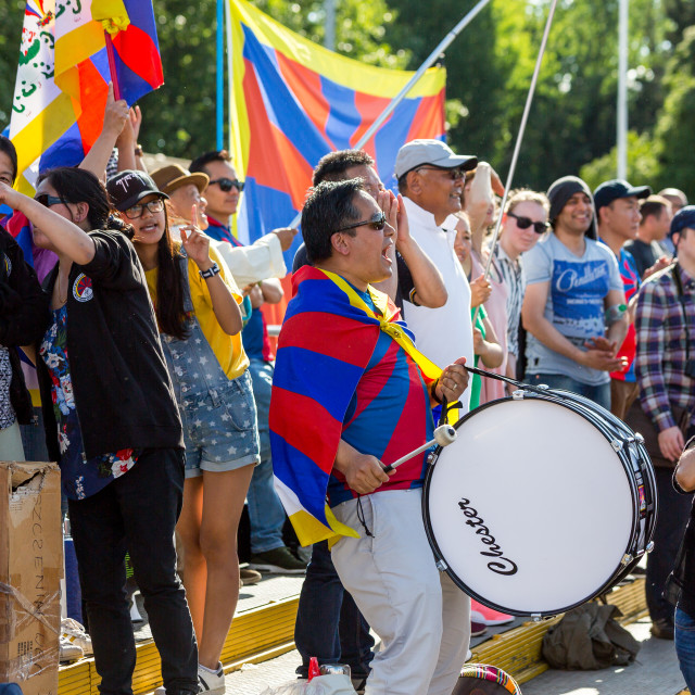 """Tibet Fans"" stock image"
