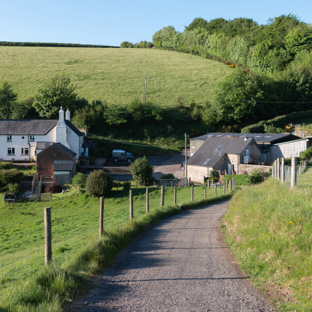 """An Exmoor Farm"" stock image"