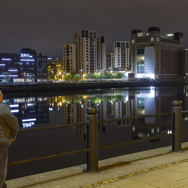 """A Tyne For Reflection"" stock image"