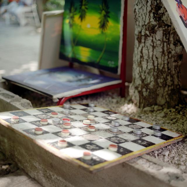 """""""Checkers board"""" stock image"""