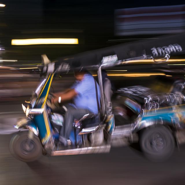 """""""Blue tuk-tuk taxi"""" stock image"""