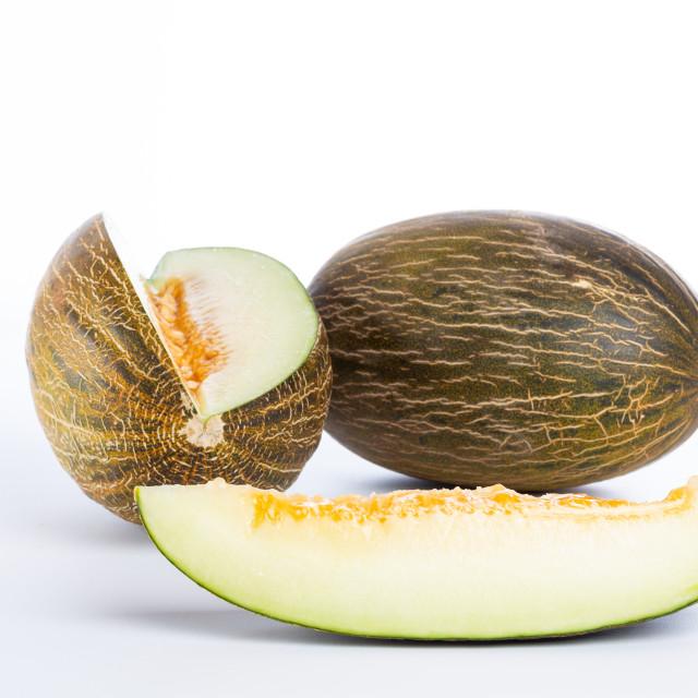 """Fresh melon cut"" stock image"