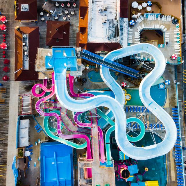 """water park slides aerial"" stock image"