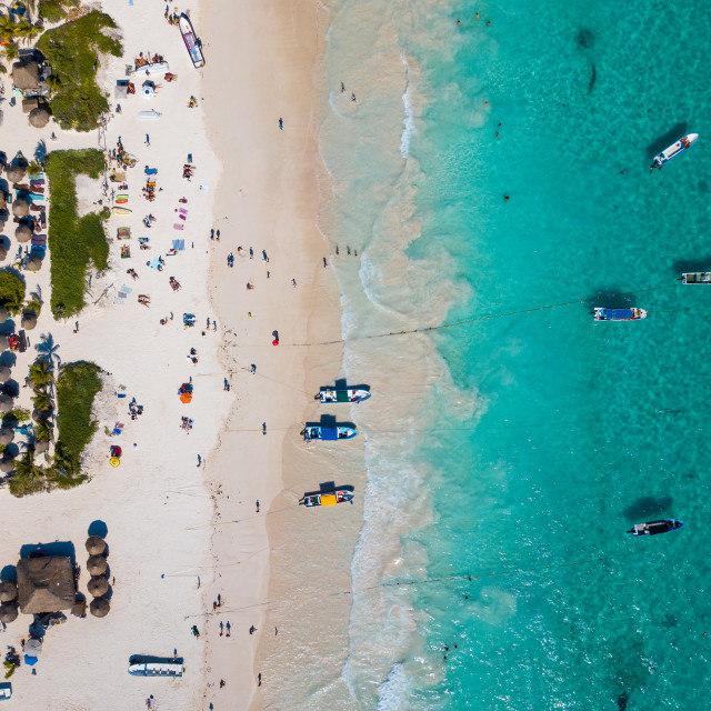 """""""Aerial photo of a beach in Mexico"""" stock image"""