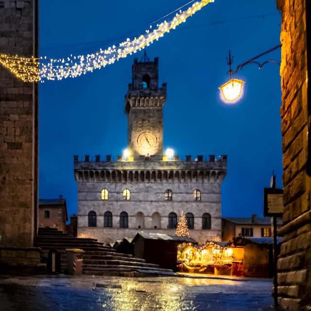 """""""Christmas time in Montepulciano"""" stock image"""