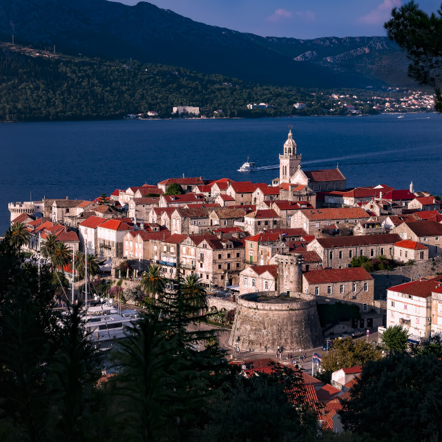 """""""Korcula Old Town"""" stock image"""
