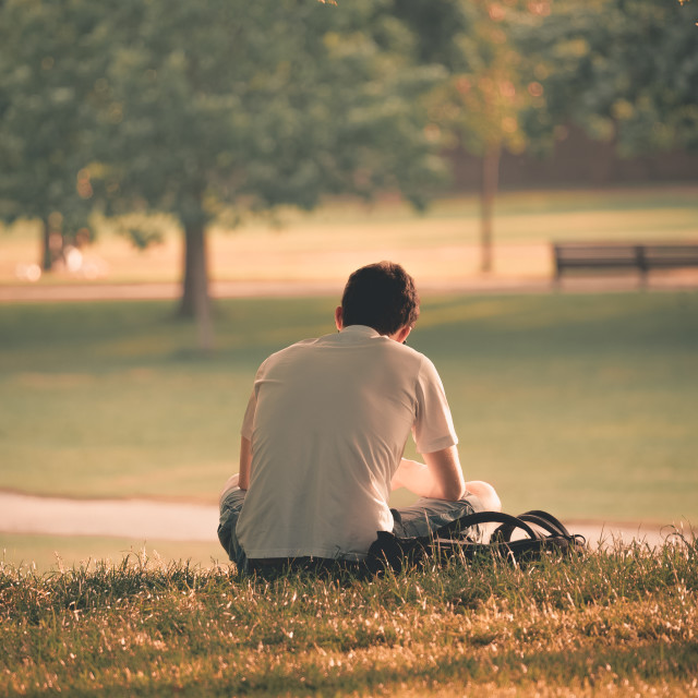 """Alone in the park"" stock image"