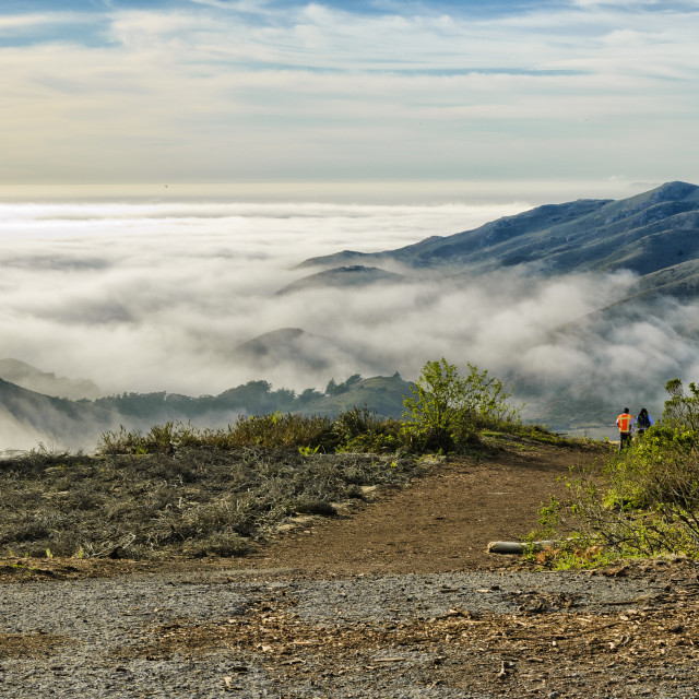 """Hawk Hill in the Marin Headlands"" stock image"