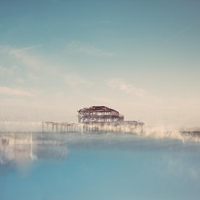 """Brighton West Pier"" stock image"