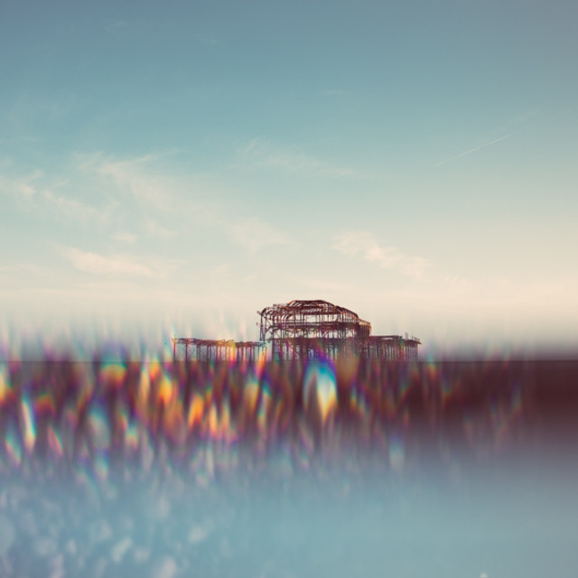 """""""Brighton West Pier and pebbles"""" stock image"""