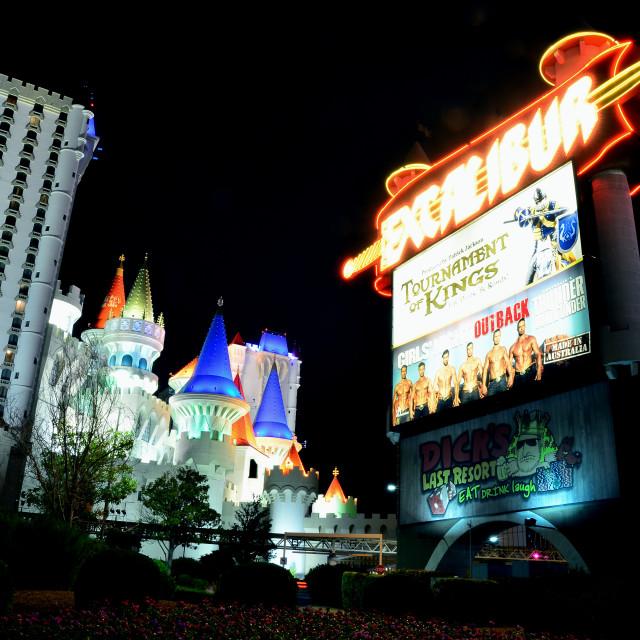 """""""Excalibur Hotel and Casino in Las Vegas."""" stock image"""