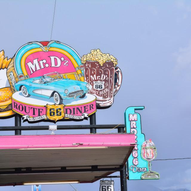 """""""Mr. Dz Route 66 Diner in Kingman"""" stock image"""