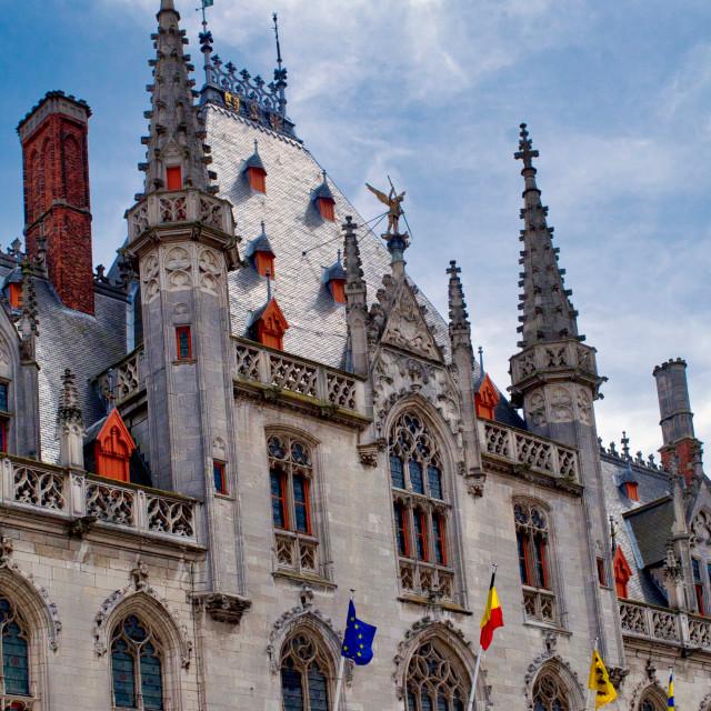 """""""Provinciaal Hof, Brugge"""" stock image"""
