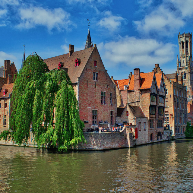 """Little Venice in Brugge"" stock image"