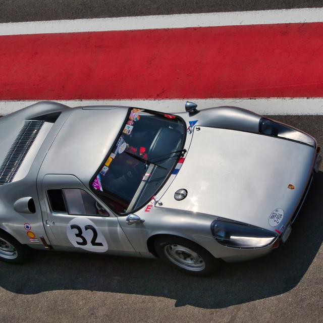 """Porsche at the Spa Classic"" stock image"