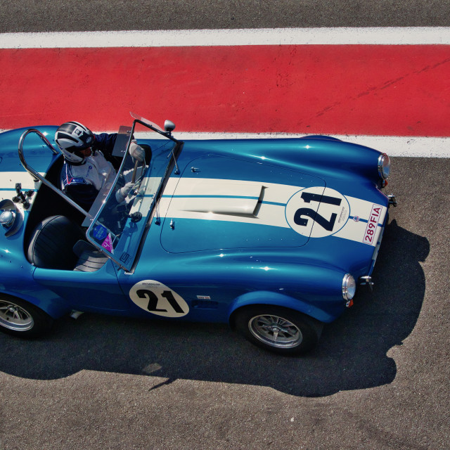 """AC Cobra at Spa Classic"" stock image"