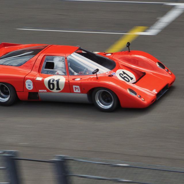 """""""McLaren M6 GT at Spa Class"""" stock image"""