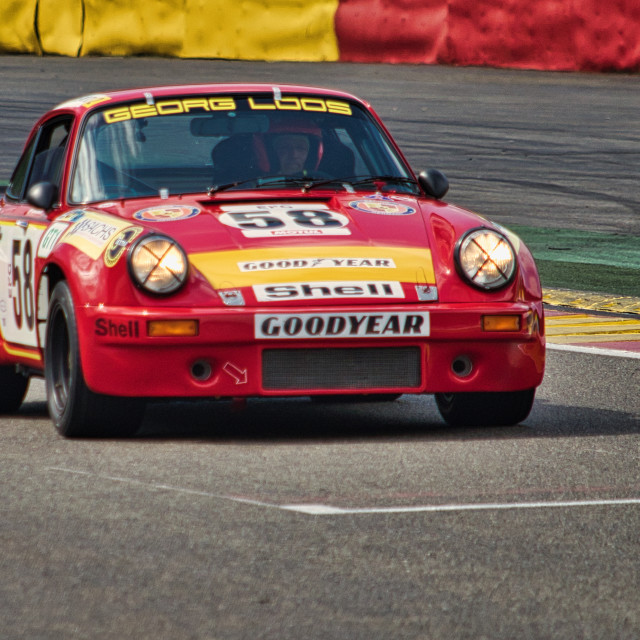 """Porsch 911 at the Spa Classic"" stock image"