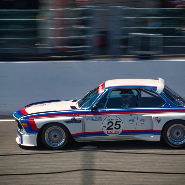 """BMW 3.0CSL at the Spa Classic"" stock image"