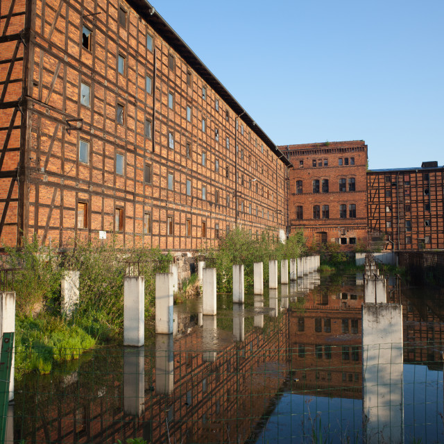 """""""Old Industrial Building on Mill Island in Bydgoszcz"""" stock image"""