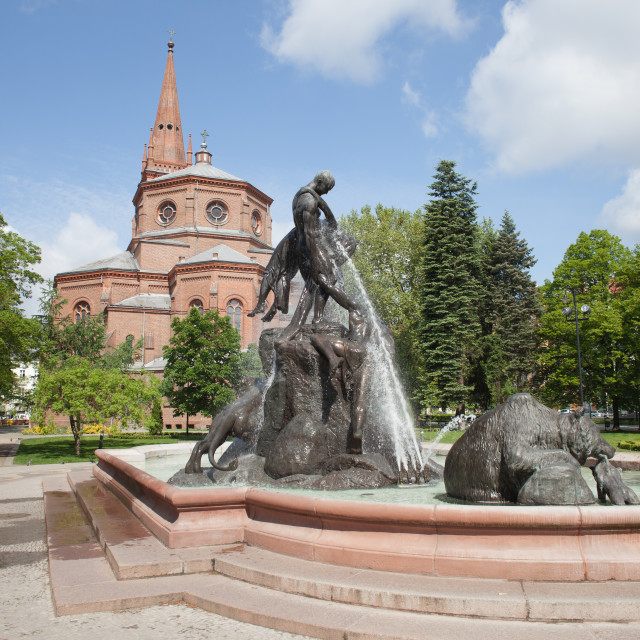 """""""The Deluge Fountain in in Bydgoszcz"""" stock image"""