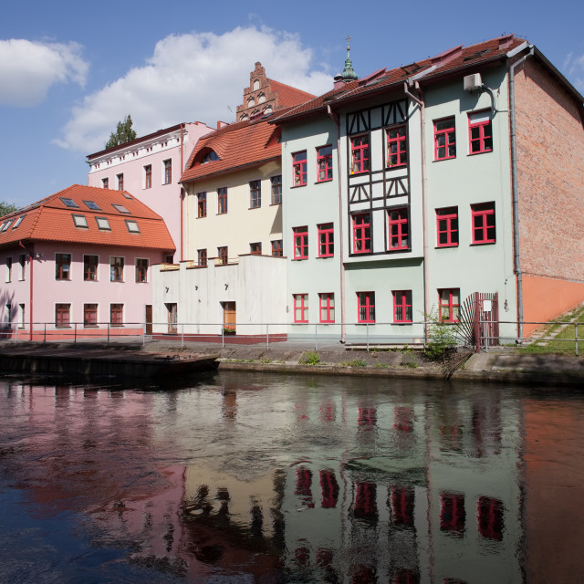 """""""River View of Bydgoszcz in Poland"""" stock image"""