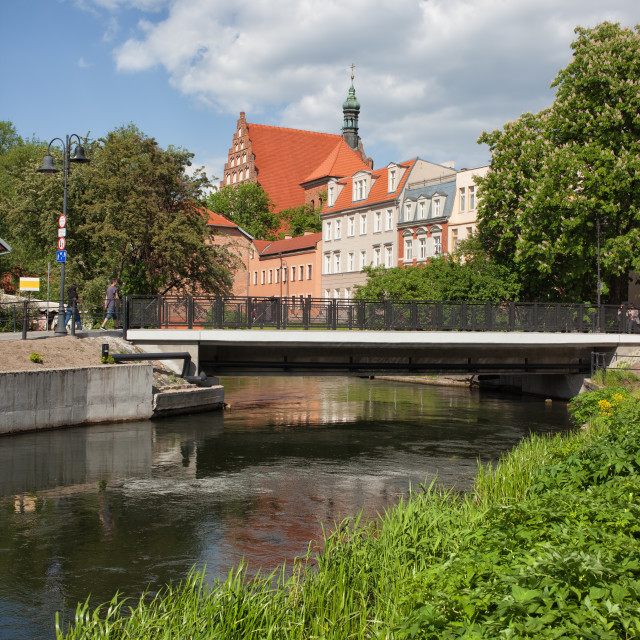 """City of Bydgoszcz River View"" stock image"