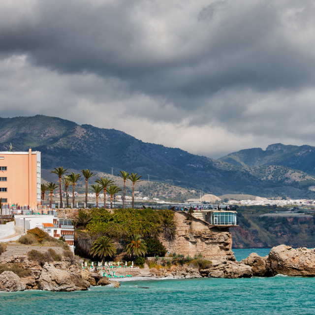 """Town of Nerja in Spain"" stock image"