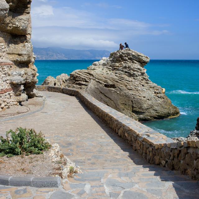 """""""Nerja Sea Promenade in Spain"""" stock image"""