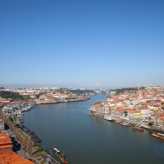 """""""Cityscape of Porto and Vila Nova de Gaia"""" stock image"""