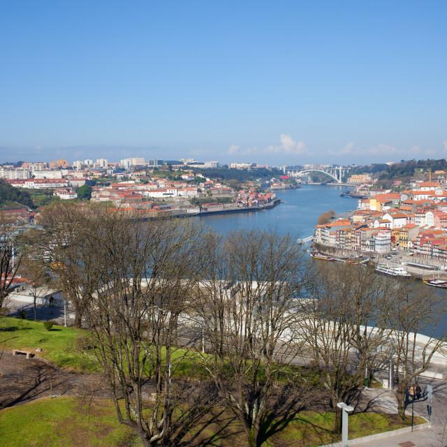 """""""Jardim do Morro in Gaia and Porto Cityscape"""" stock image"""