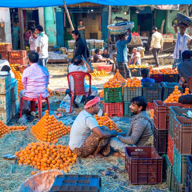 """Street market"" stock image"