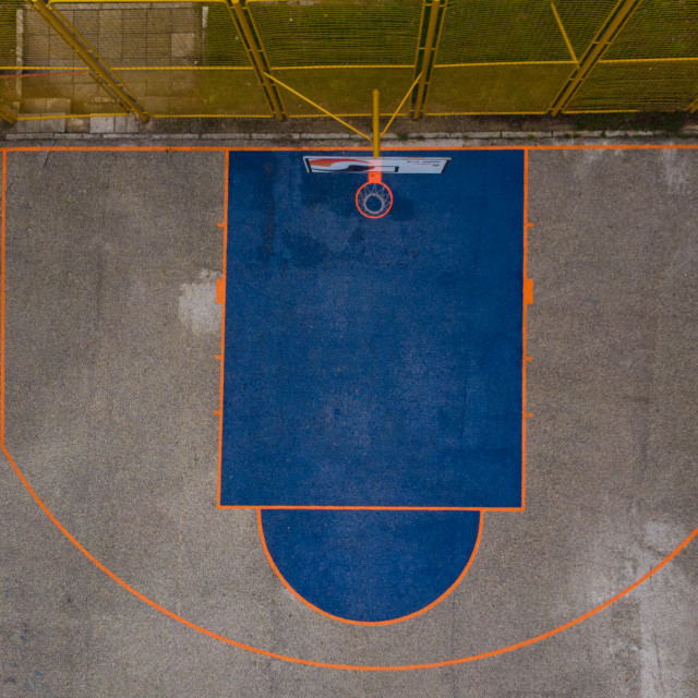 """old basketball court"" stock image"