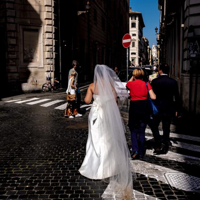 """Wedding dress Rome 2018"" stock image"