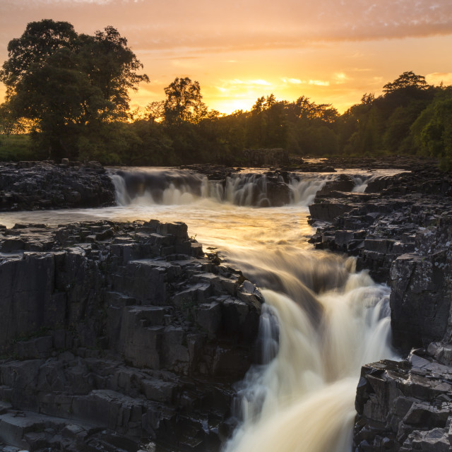 """Low Force Waterfall, Upper Teesdale, County Durham, UK"" stock image"