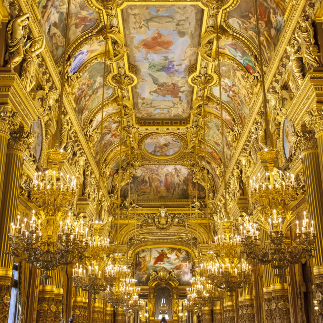 """The Grand Foyer of Palais Garnier - Opera House, Paris France"" stock image"