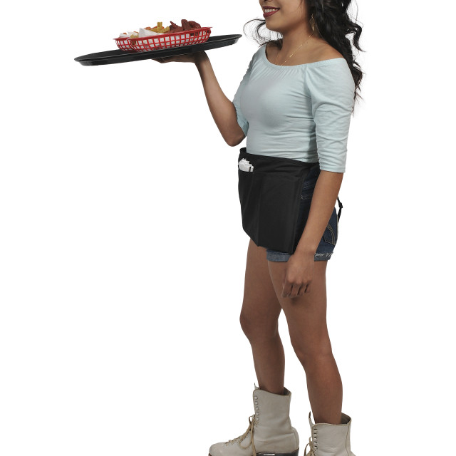 """Woman server or waitress on roller skates"" stock image"