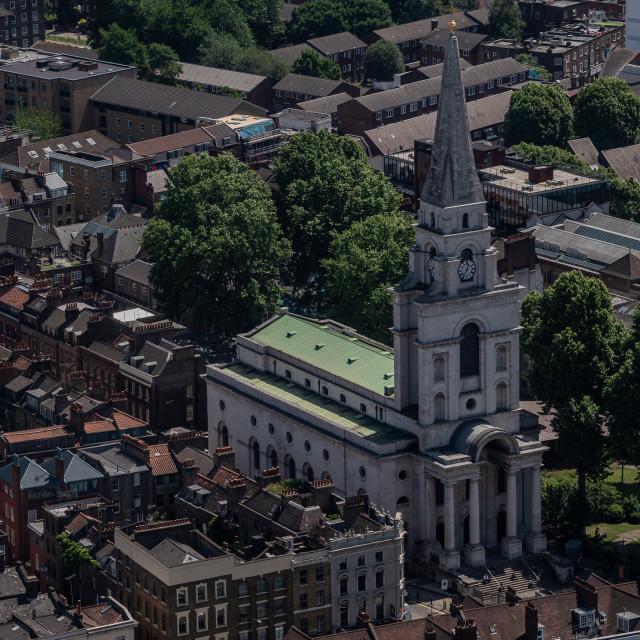 """Christ Church, Spitalfields"" stock image"