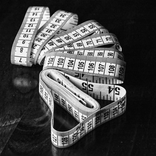 """""""A measuring tape"""" stock image"""
