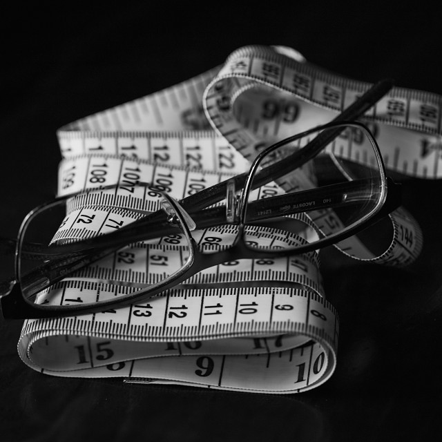 """A measuring tape"" stock image"