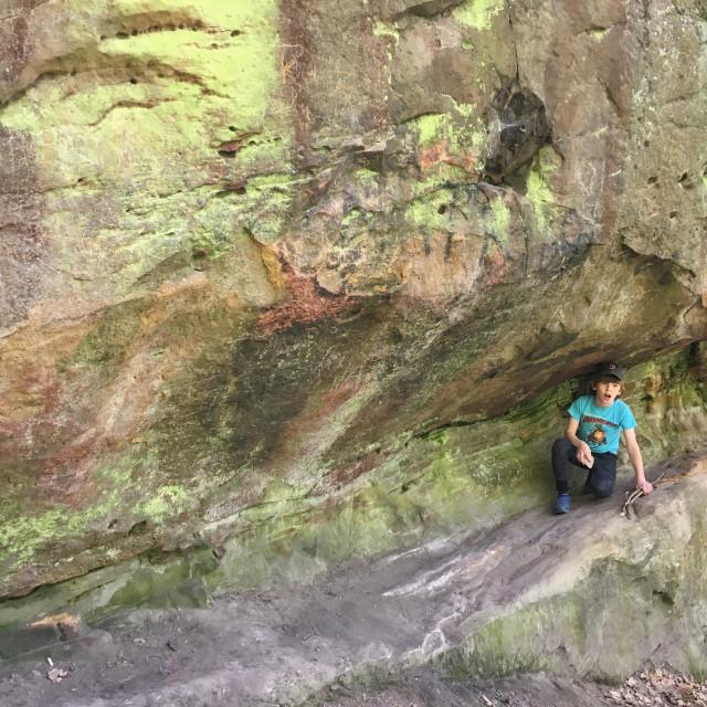 """Ciężkowice: Stone City Natural Reserve"" stock image"