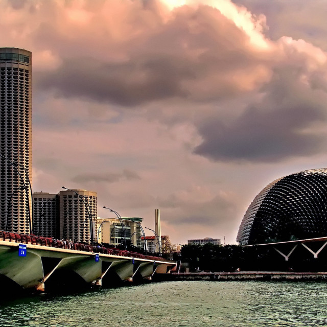 """Esplanade, Singapore"" stock image"