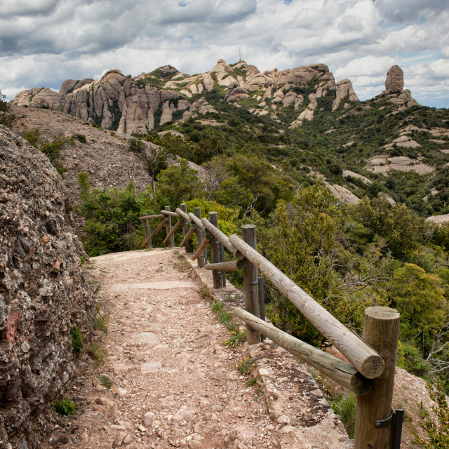 """""""Footpath on the Montserrat Mountain in Spain"""" stock image"""