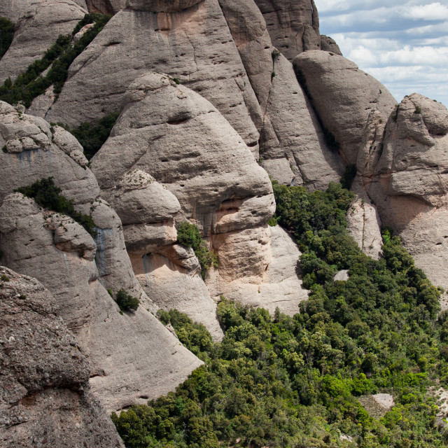 """Montserrat Mountain in Spain"" stock image"
